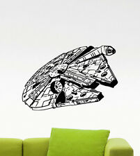 Millenium Falcon Wall Decal Star Wars Space Ship Vinyl Sticker Decor Mural (76m)