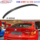 P Style Trunk Lip for 14-17 BMW X4 F26 Dry Carbon Fiber Rear Spoiler Boot Wing