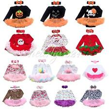 2PCS Baby Toddler Girls Party Tutu Romper Dress Outfits Halloween Costume 0-12M