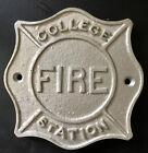 Vintage Fire Department ~ College Fire Station  Metal Plaque