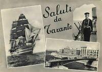 CARTOLINA SALUTI DA TARANTO 1957 BC19