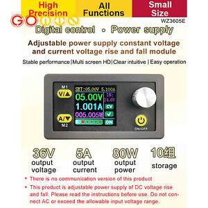 WZ3605E Color Screen 80W DC Regulated Power Supply Step Up Down Converter 36V 5A