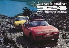 PORSCHE 924 Automatic 1977 ORIGINALE UK SALES BROCHURE PUB NO 1140.20