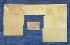 More details for gold british bank notes. set of set of 7 with coa. 99.9% pure 24 carat gold.