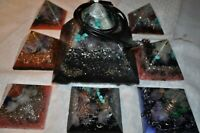 10 pc quartz crystal Orgone Energy Pyramid Home system 5G wifi EMF protection