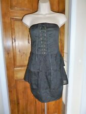 Pretty black strapless lace up detail dress from Bershka size 12