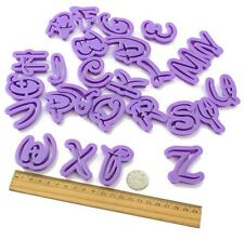 26 Pcs Disney Inspired Alphabet Letter Cookie Fondant Clay Cutter Plunger  Mold