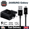 UK Fast Charger Plug & Micro USB Cable For Samsung Galaxy S7 Edge S6 S5 Note 4 5