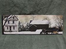 Winter Barn House Tire Swing Farm Wall Decor Canvas Americana  Billy Jacobs