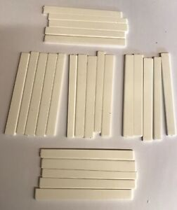 25 x Classical Guitar Saddles, assorted sizes