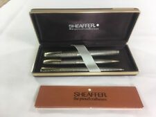 VINTAGE SHEAFFER FOUNTAIN BALLPOINT PEN AND PENCIL SET Imperial Sterling Silver