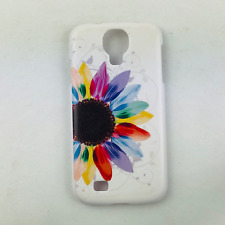 SAMSUNG GALAXY 4 S4 HARD CASE COVER THIN SLIM FLOWERS MULTICOLOR WHITE PROTECTOR