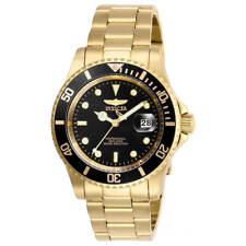 Invicta Men's Watch Pro Diver Quartz Black Dial Yellow Gold Bracelet 26975
