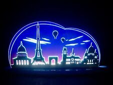 3d LED Arco Plexiglas ARCOS CON MADERA parís Torre Eifel 47x21cm 10699