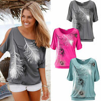 Sexy Women Casual Summer Loose Top Short Sleeve Blouse Ladies Tops T-Shirt