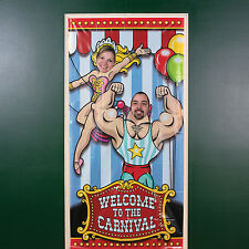 Big Top Photo Door Banner CIRCUS WELCOME TO THE CARNIVAL BIRTHDAY Party GAME