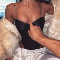 Womens Plunge Deep V Neck Lingerie Bodysuit Jumpsuits Bodycon Perspective Tops