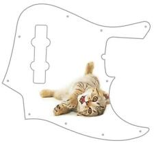 J Jazz Bass Pickguard Custom Fender Graphic Graphical Guitar Pick Guard Kitten