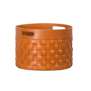 RRP £1100 GioBagnara Verona Basket Round Italian Handmade Saddle Leather Mango