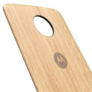 Original MOTOROLA Style Washed Oak Wood Back-Cover für moto Z Z2 play - NEU
