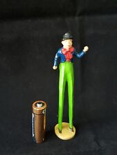 CHARBENS MIMIC SERIES -RARE Lead Circus Figurine - Man Stilts Tall (4.5 Inches)