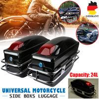 Paar Universal Motorrad ATV Seitenkoffer Hartschalenkoffer Gepäck Satteltaschen