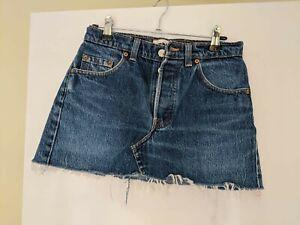 Levi Jean Skirt. 28 Inch Waist Size 8