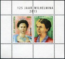 St. Maarten 2015 Königin Wilhelmina Royalty Königshaus der Niederlande MNH