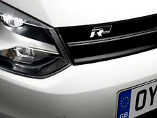 R Line Badge Chrome & Black Front slated Grill Custom r32 R VW Golf Tiguan