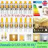 G4 Dimmable LED COB 3W 6W Light Bulb Capsule Lamp Replace Halogen Bulb AC DC 12V