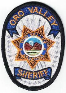 Oro Valley Sheriff Arizona Police Patch Arizona AZ