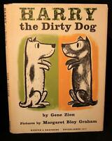 Gene Zion HARRY THE DIRTY DOG 1956 1st ED w/DJ Margaret Bloy Graham RARE