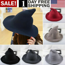 Us! Modern Witch Hat Made From High Quality Sheep Wool Halloween Party Witch Hat