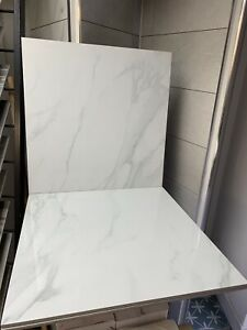 (20-100 SQM) WHITE MARBLE EFFECT POLISHED PORCELAIN WALL & FLOOR TILES.
