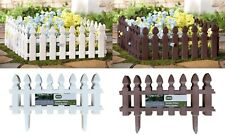 More details for heritage garden picket fence borders edging gardening lawn fencing flower beds