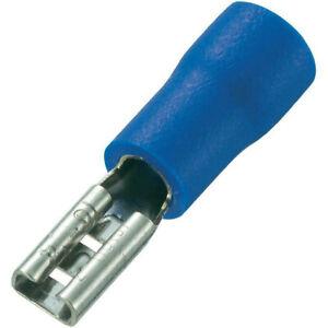 300Pcs Blue FDD2-110 2.8mm14-16 AWG Insulated Female Spade Wire Crimp Terminals