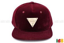 355cbd9ffdf Hater VELVET SNAPBACK ROYAL BLUE WINE RED Gold Metal Badges Adjustable Hat  Cap
