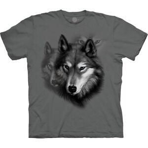 The Mountain Unisexe Loup Tee Shirt 100% coton USA Taille L