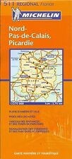 Michelin Map of Nord Pas-de-Calais, Picardie, Michelin Map #511, French Edition