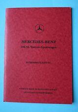 Mercedes W198 300 SL Roadster Betriebsanleitung Bedienungsanleitung 1959