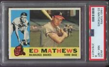 1960 TOPPS ED MATHEWS HOF #420 - MILWAUKEE BRAVES - PSA 8 NM-MT