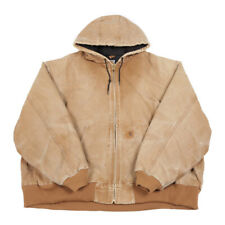 CARHARTT Quilt Lined Hooded Jacket | 4XL XXXXL | Workwear Work Chore Coat Hood