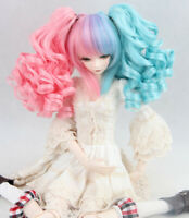New Double ponytail curls Wave Hair Wig For 1//3 1//4 1//6 BJD Doll FBE070