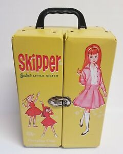 Vintage 1964 Skipper Barbie's Little Sister Vinyl Carrying Case Wardrobe Mattel