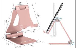 Foldable Aluminum Desktop Desk Stand Phone /Tablet Holder For CellPhones/ iPhone