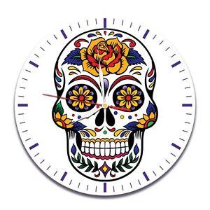 Skull Color design vinyl record wall clock home art office shop hobby bedroom