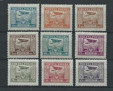 POLAND STAMPS MNH Fi216-24 ScC1-C9 Mi224-32 - Air Post Stamps, 1925, **