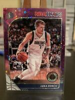 2019-20 PANINI NBA HOOPS PREMIUM STOCK LUKA DONCIC #39 PURPLE DISCO PRIZM SP