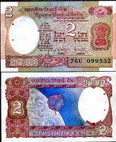 INDIA 2 RUPEES P 79 J AUNC W/H