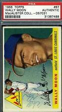 Wally Woon Signed 1955 Topps Psa/dna Autograph